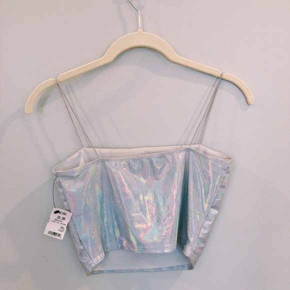 AKIRA Tops - Holographic Crop Top from Akira